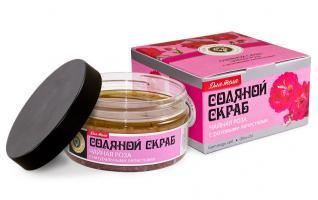 Соляной скраб ЧАЙНАЯ РОЗА с лепестками, 300 г